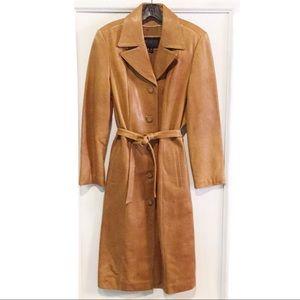 Wilson Leather Pelle Trench Coat | Cognac Medium